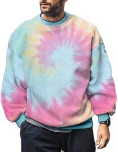 Pretifeel Tie-Dye Sweatshirts for Men