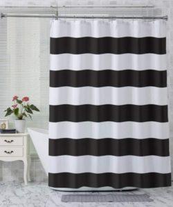 AmazerBath Fabric Shower Curtain