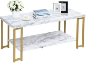 Marble 2-Tier Coffee table