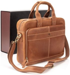 Luxorro Man Leather Laptop Bags, Briefcase for Men