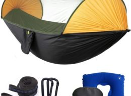 MIHUNTER Single & Double Camping Hammock with Mosquito/Bug Net