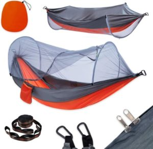 Camping Hammock with Mosquito Net & 10ft Hammock Tree Straps