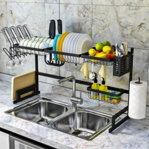 plate storage for sink