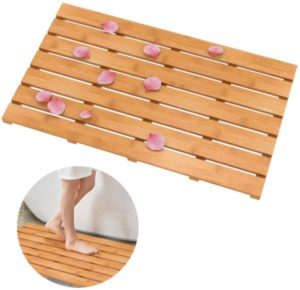 Domax Wooden Bamboo Bath Shower Mat