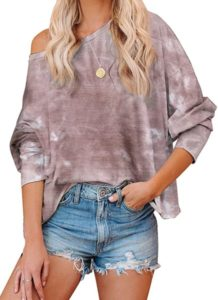 loose fit tie dye sweatshirt for women