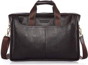 Leather Briefcase Handbag Messenger