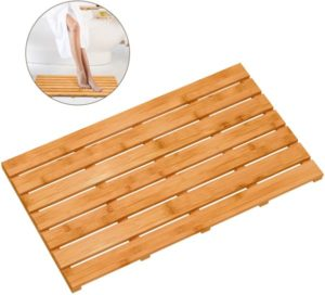 Bamboo Wooden Bath Floor Mat for Luxury Shower
