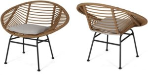 Christopher Knight Home Aleah Indoor Woven Faux Rattan Chairs