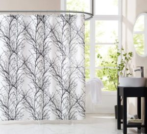 Fmfunctex Black White Fabric Shower Curtain