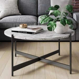 Marble Round Modern Living Room Coffee Table