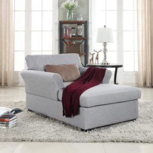 Large Classic Linen Fabric Living Room Chaise Lounge